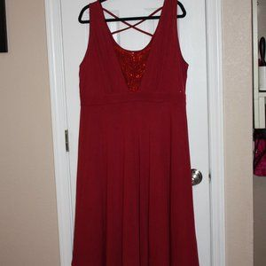 Rosegal 1X Burgandy Tank Dress